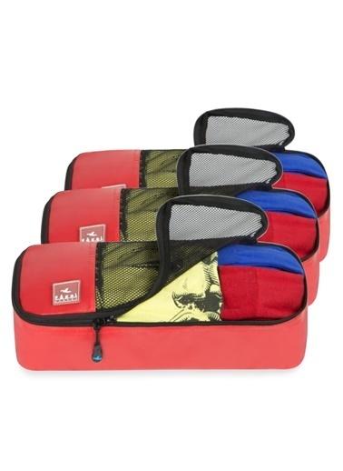 Fagel Travel 3Lü Slim Set Kırmızı